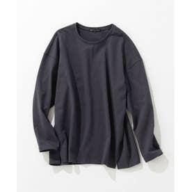 【洗える】シングル ジャージー ロング Tシャツ (グレー系)