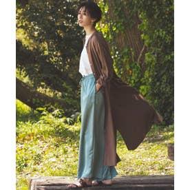 【中村アンさん着用】レーヨンソフトツイル ロングシャツ ドレス(番号2H28) (ダークブラウン系)