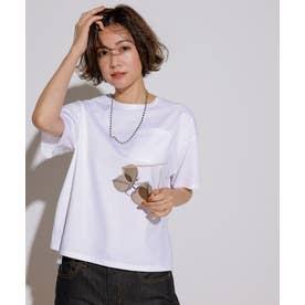 【一部店舗限定】コットンジャージー ポケット Tシャツ (ホワイト系)