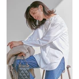 【中村アンさん着用】コットンベアジャージー ロング Tシャツ(番号2G37) (ホワイト系)