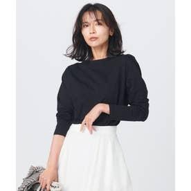 【中村アンさん着用】コットンベアジャージー ロング Tシャツ(番号2G37) (ブラック系)