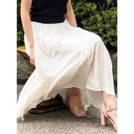 【スカート】イレヘム割繊スカート (オフホワイト)