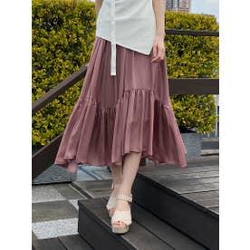 【スカート】イレヘム割繊スカート (ピンク)