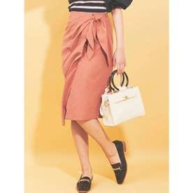 【スカート】スエードラップスカート (ピンク)