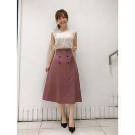 【スカート】バックプリーツトレンチスカート (ピンク)