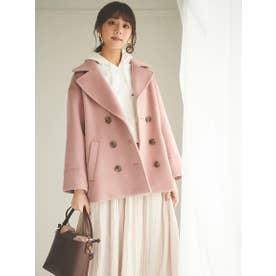【コート】ショートPコート (ピンク)