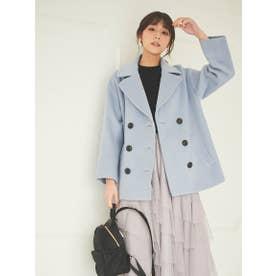 【コート】ショートPコート (ブルー)