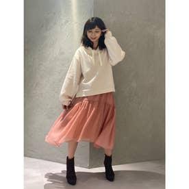 【スカート】エアリーフレアスカート (ピンク)