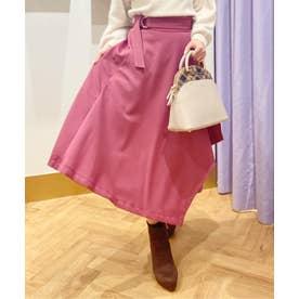 【スカート】アシメフレアスカート (ピンク)