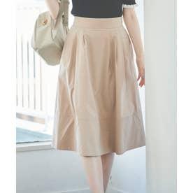 タイプライターカラースカート (ベージュ)