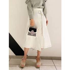 サス付きラップスカート (オフホワイト)