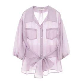シースルーCPOシャツジャケット (ラベンダー)