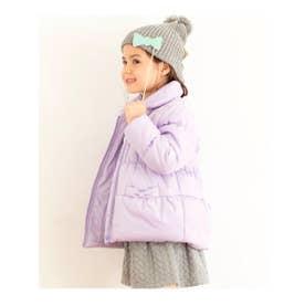 【90-160cm】丸衿中綿ジャケット (ライトパープル(081))