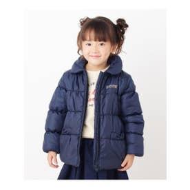 【90-160cm】丸衿中綿ジャケット (ネイビー(093))