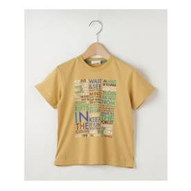 【100-140cm】カラフル英字ロゴTシャツ (イエロー(032))