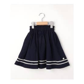 【100-150cm】マリンテイストスカート (ネイビー)