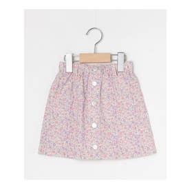 【100‐150㎝】フロントボタンショートスカート (ベビーピンク)