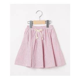 【100-140cm】コードレーンボリュームスカート (ラズベリーピンク)
