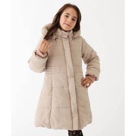 【110-150cm】デュースポロング中綿入りコート (ベージュ)