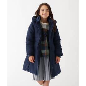 【110-150cm】デュースポロング中綿入りコート (ネイビー)