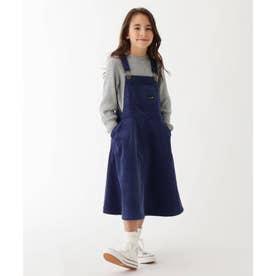 【100-150cm】コーデュロイサロペットスカート (ネイビー)