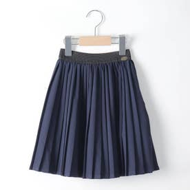 【100-150cm】ツイルプリーツスカート (ネイビー)