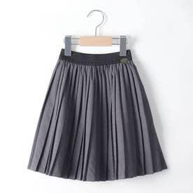 【100-150cm】ツイルプリーツスカート (チャコールグレー)