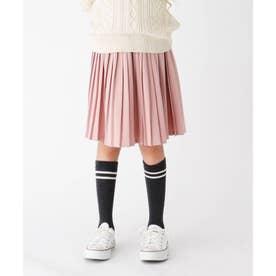 【100-150cm】ツイルプリーツスカート (ピンク)