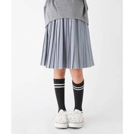 【100-150cm】ツイルプリーツスカート (ライトブルー)