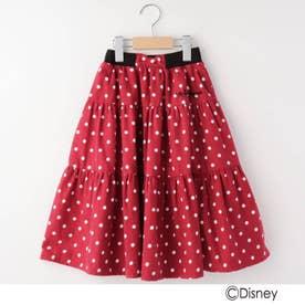 【100-140cm】DISNEY ドットスカート(ミニーマウス) (レッド)