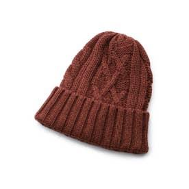 ◆バルキーウールコードニットキャップ[ メンズ 帽子 ニットキャップ ] (ボルドー(064))