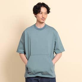 ヘビープレーティング天竺 Tシャツ (ブルー)