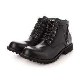 メンズ ショートブーツ ブーツ 防水 レインブーツ (ブラック)