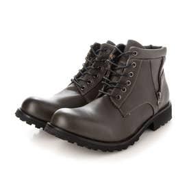 メンズ ショートブーツ ブーツ 防水 レインブーツ (ダークグレー)