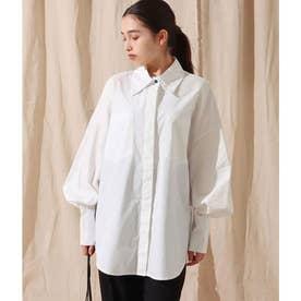 ビッグカフスポプリンシャツ(ホワイト)