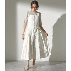 カツラギタックデザインジャンパースカート(オフホワイト)