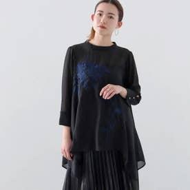 ボタニカル刺繍ブラウス(ブラック)
