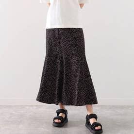 ランダムドットマーメイドスカート(ブラック)