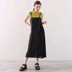 サイドプリーツジャンパースカート(ブラック)