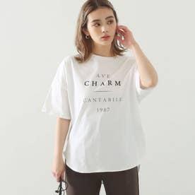 コットンプリントオーバーTシャツ(オフホワイト)