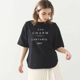コットンプリントオーバーTシャツ(ブラック)