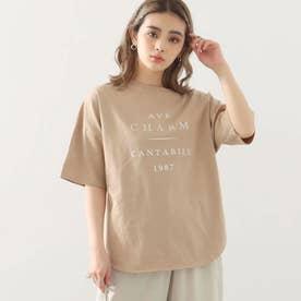 コットンプリントオーバーTシャツ(ベージュ)