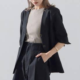 リネンライクジャケット(ブラック)