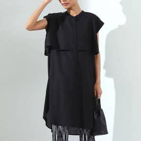 シアーローンアンブレラヨークシャツ(ブラック)