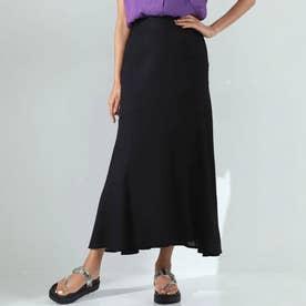 リネンライクマーメイドスカート(ブラック)