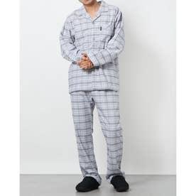 ネルチェックパジャマ (ブルー)