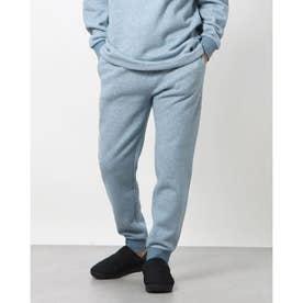 綿100%杢裏毛表ピーチ裏起毛イージーパンツ (ブルー)