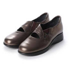 【A-OK】軽量・5Eのコンフォート靴 《TS619》(ブロンズ)