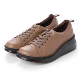 【A-OK】 スニーカー感覚のシューレースコンフォート靴 《MS8480》(モカ)