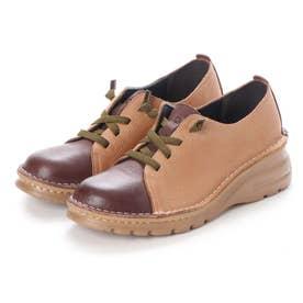 【A-OK】カラーコンビの軽量ウォーキング靴 (DBR)